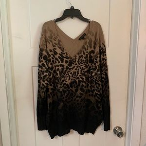 Lane Bryant 26/28 leopard print sweater